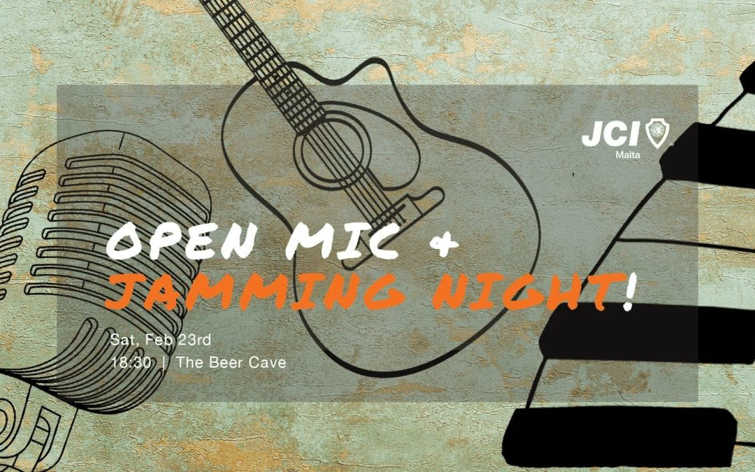 2 winners for the JCI Malta Open Mic & Jamming Night at The Beer Cave!