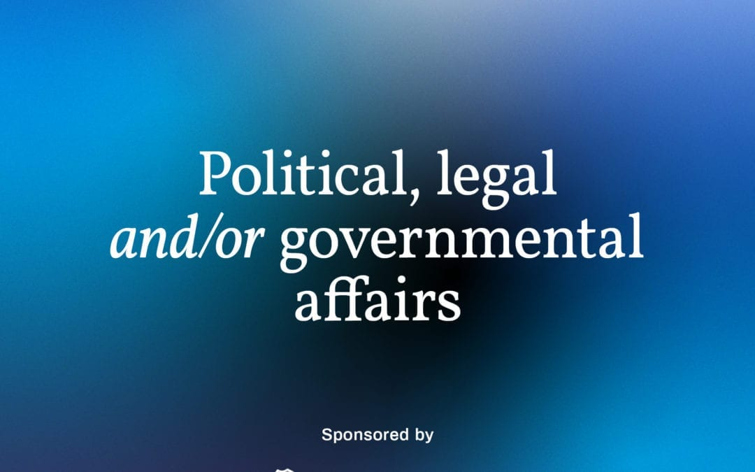 Do you know a lawyer, politician or someone in government actively seeking to better the community?