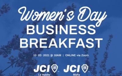 JCI Malta celebrates Women's Day with online Business Breakfast
